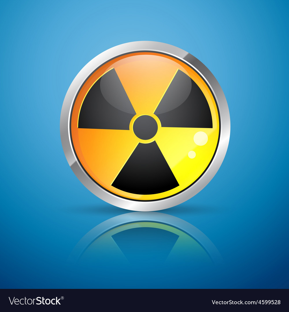 Nuclear radiation sign vector | Price: 1 Credit (USD $1)