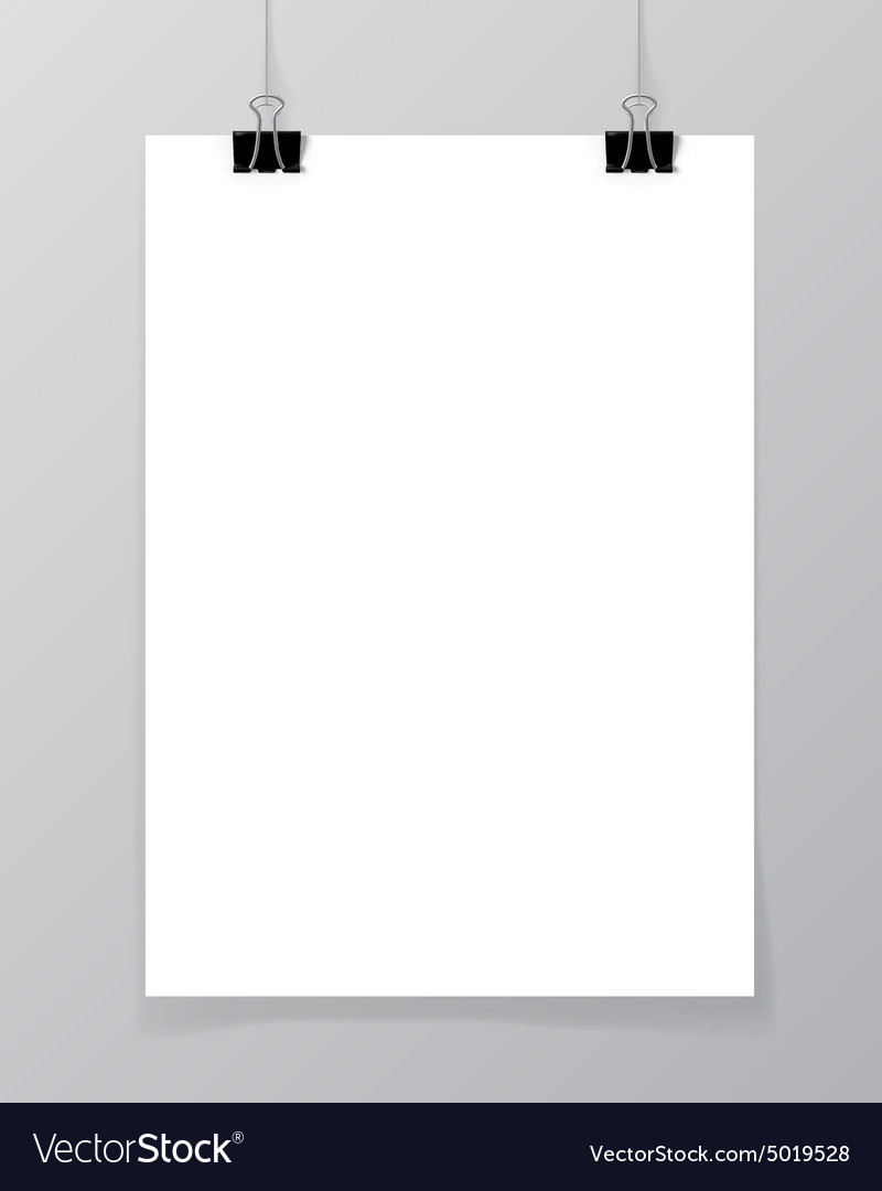 Poster on a wall vector