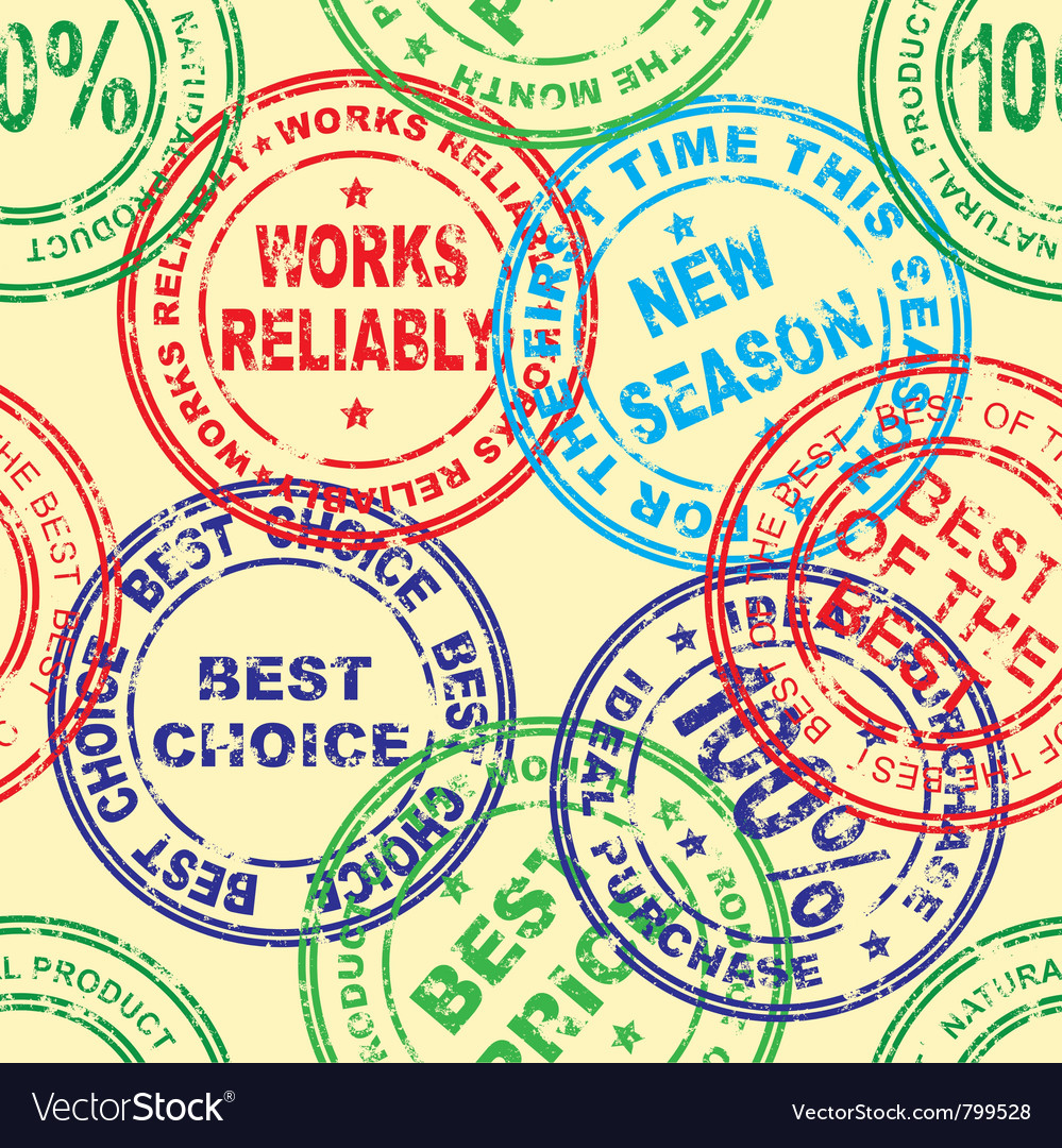Stamp  seamless vector | Price: 1 Credit (USD $1)