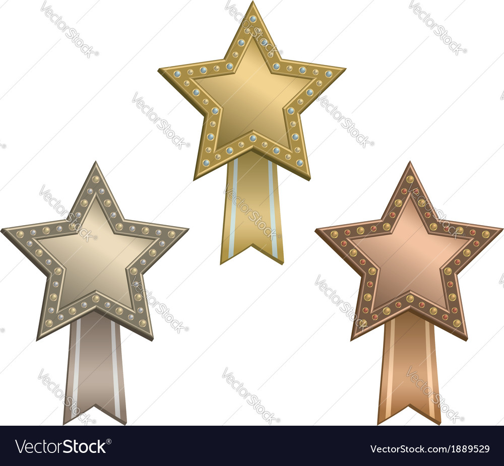 Award star ribbon vector | Price: 1 Credit (USD $1)