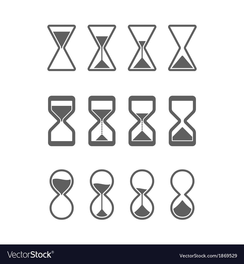 Sandglass icons vector | Price: 1 Credit (USD $1)