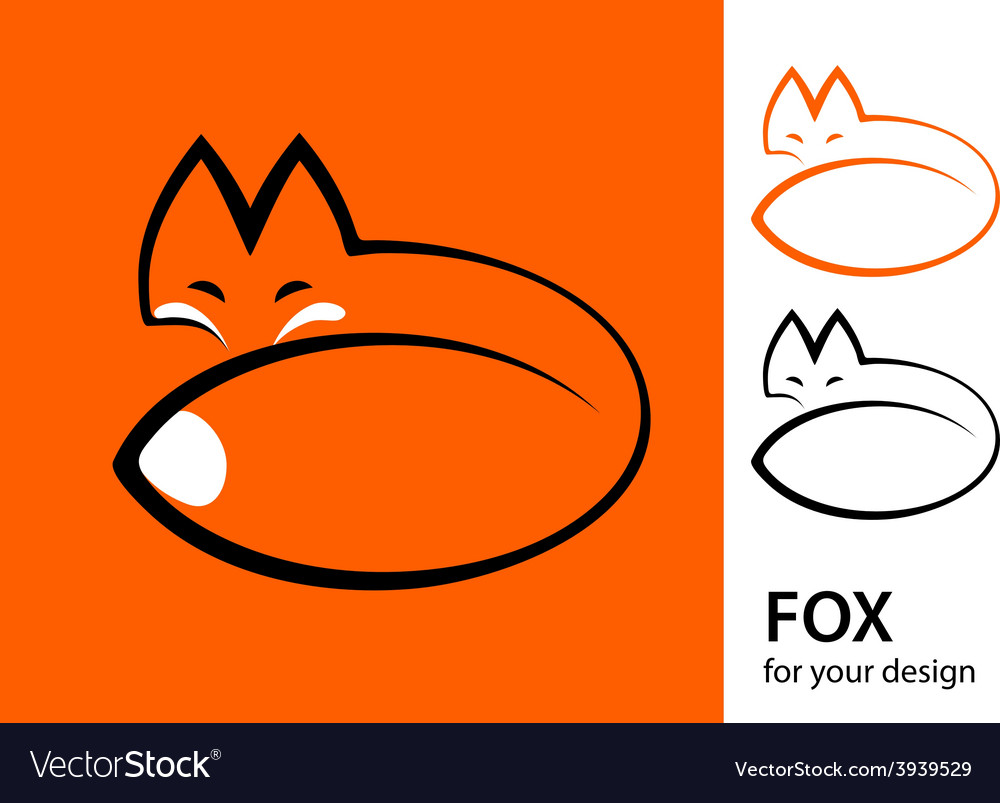 Stylized fox vector | Price: 1 Credit (USD $1)