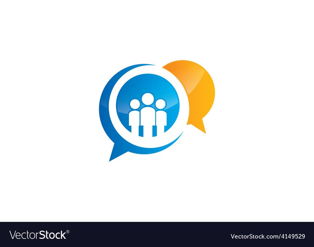 Talk people gossip bubble logo vector   Price: 1 Credit (USD $1)