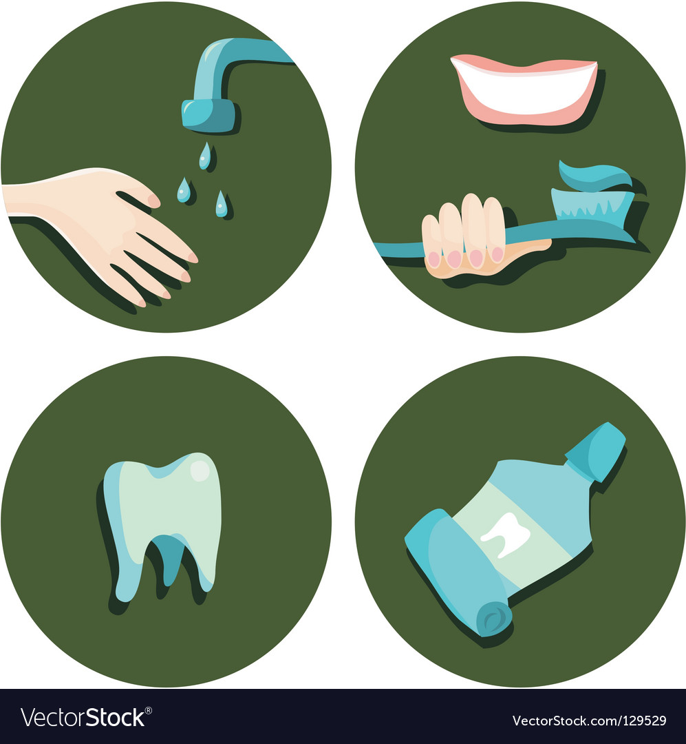 Teeth icons vector | Price: 1 Credit (USD $1)