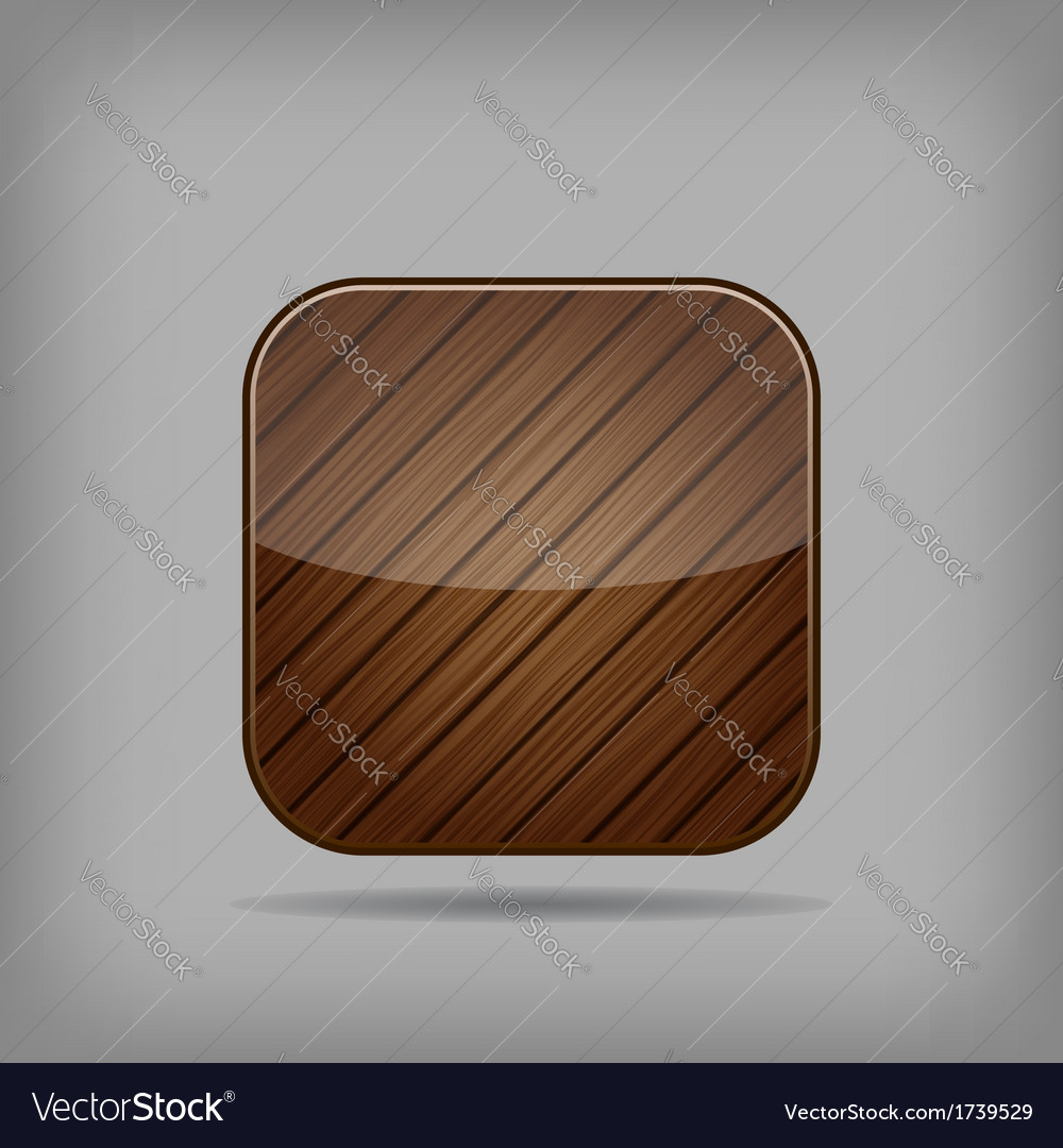 Wooden button vector | Price: 1 Credit (USD $1)