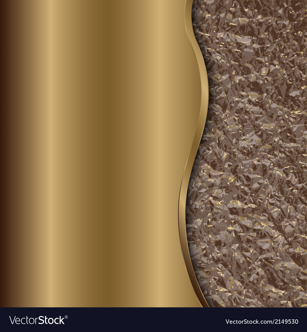 Abstract bronze background with curve and foil vector | Price: 1 Credit (USD $1)