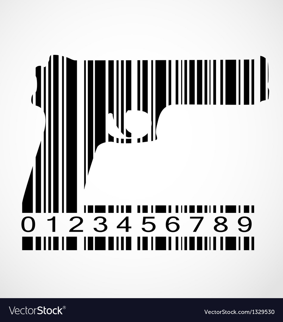 Barcode gun image vector | Price: 1 Credit (USD $1)