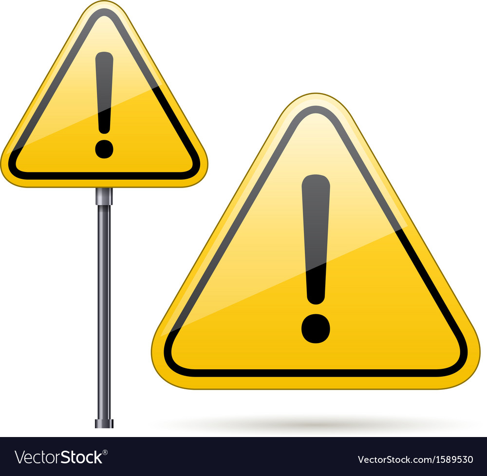 Danger warning sign vector | Price: 1 Credit (USD $1)