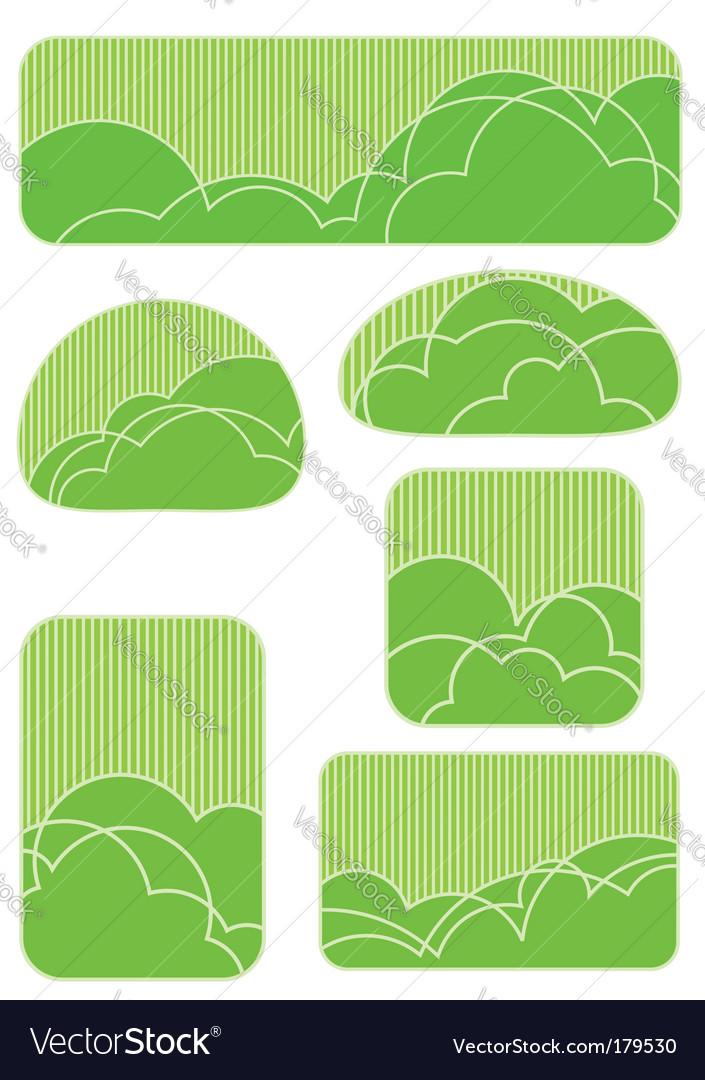 Garden elements vector | Price: 1 Credit (USD $1)