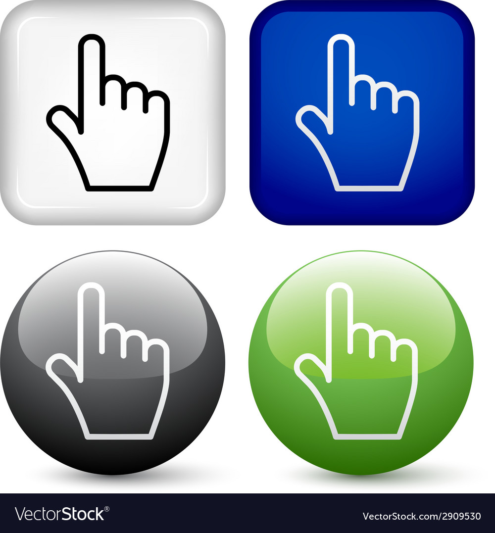 Hand buttons vector