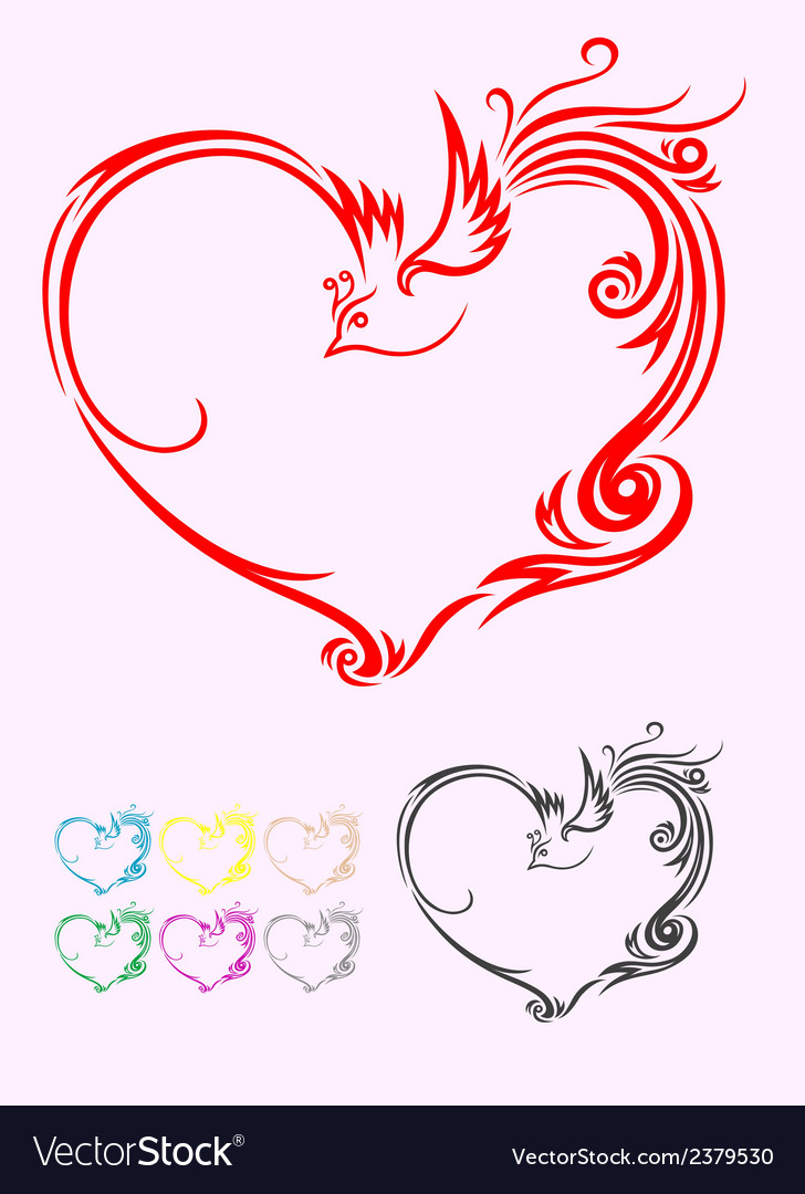 Heart ornament vector | Price: 1 Credit (USD $1)