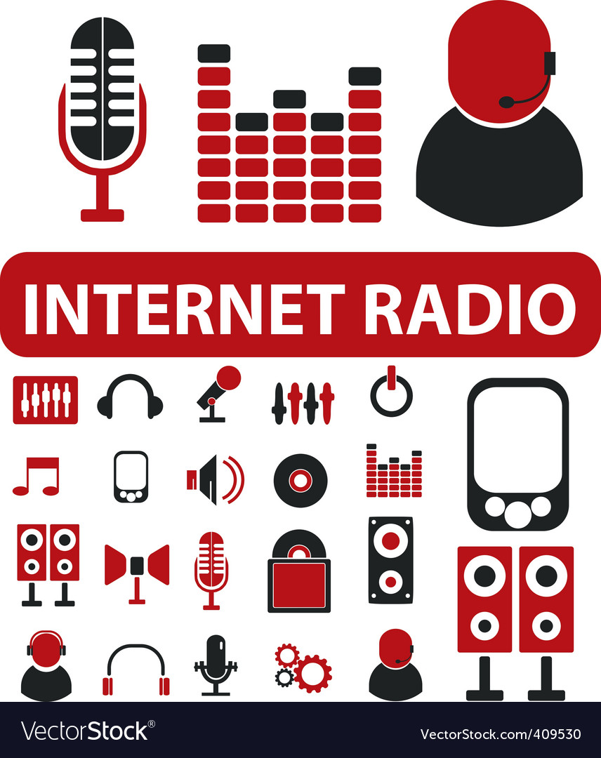 Internet radio signs vector | Price: 1 Credit (USD $1)