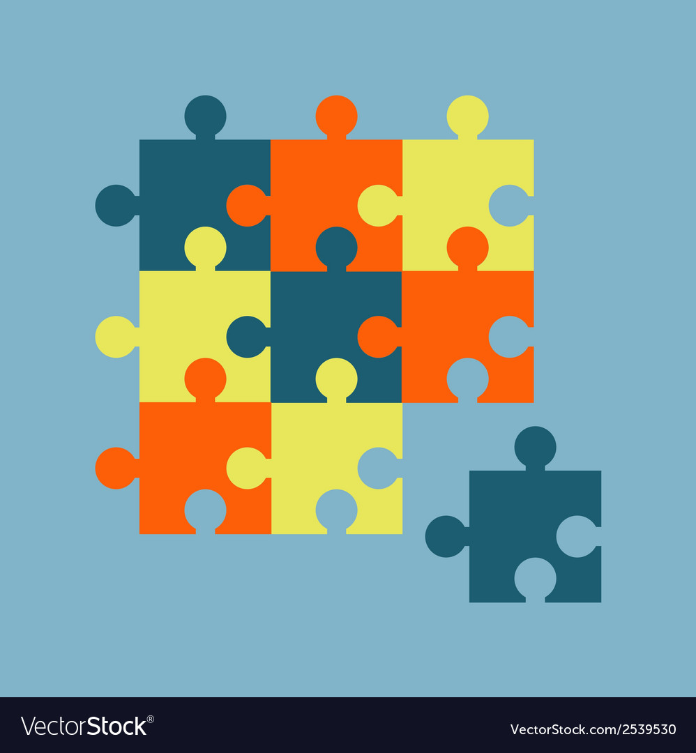 Parts of multicolor puzzles vector | Price: 1 Credit (USD $1)
