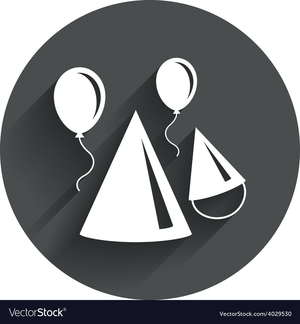 Party hat sign icon birthday celebration symbol vector | Price: 1 Credit (USD $1)