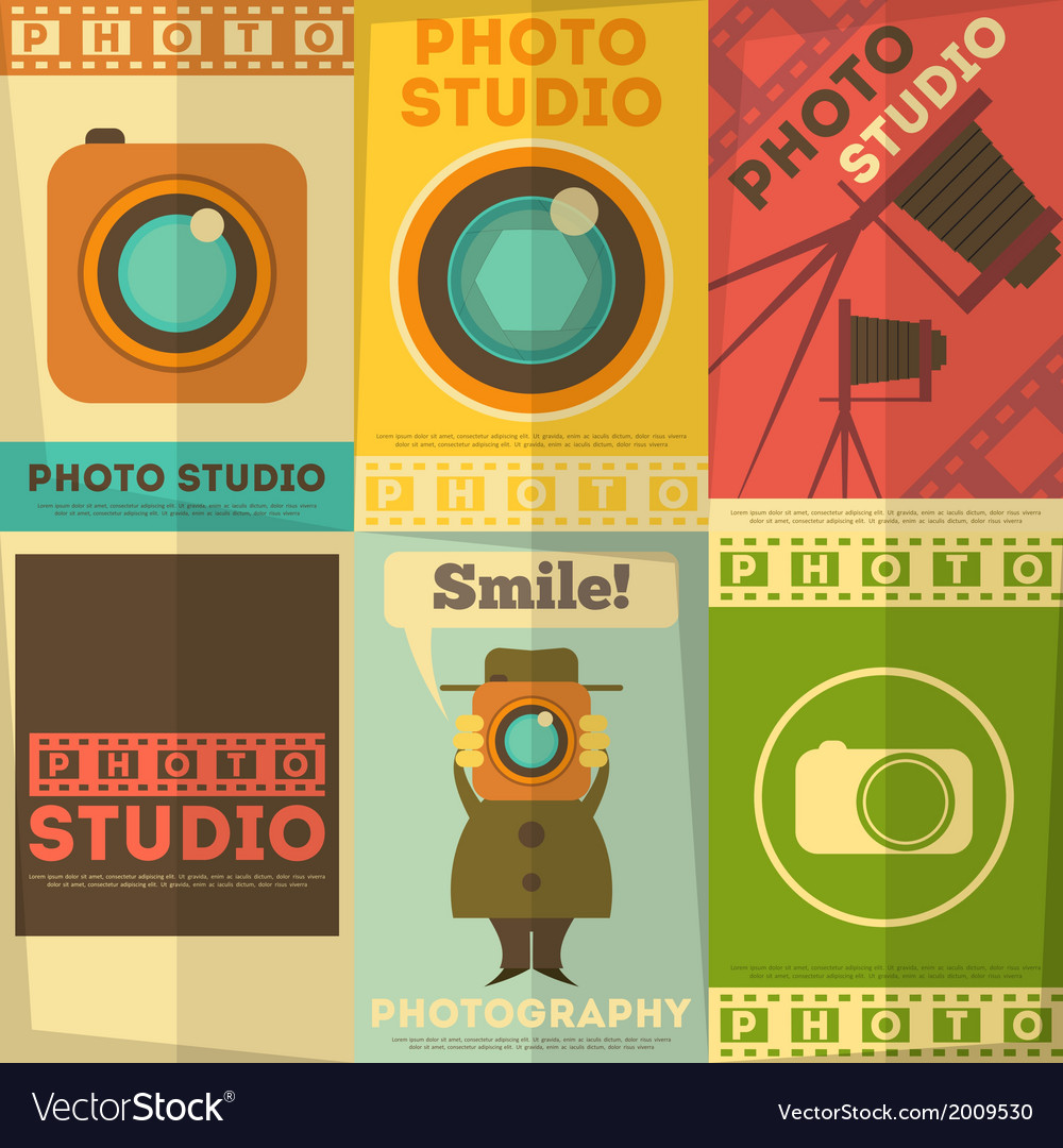 Photo studio posters vector | Price: 1 Credit (USD $1)