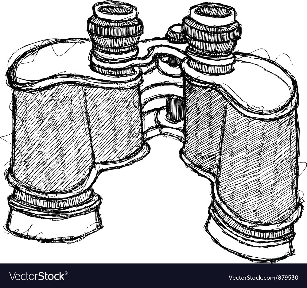 Scribble series - binoculars vector | Price: 1 Credit (USD $1)