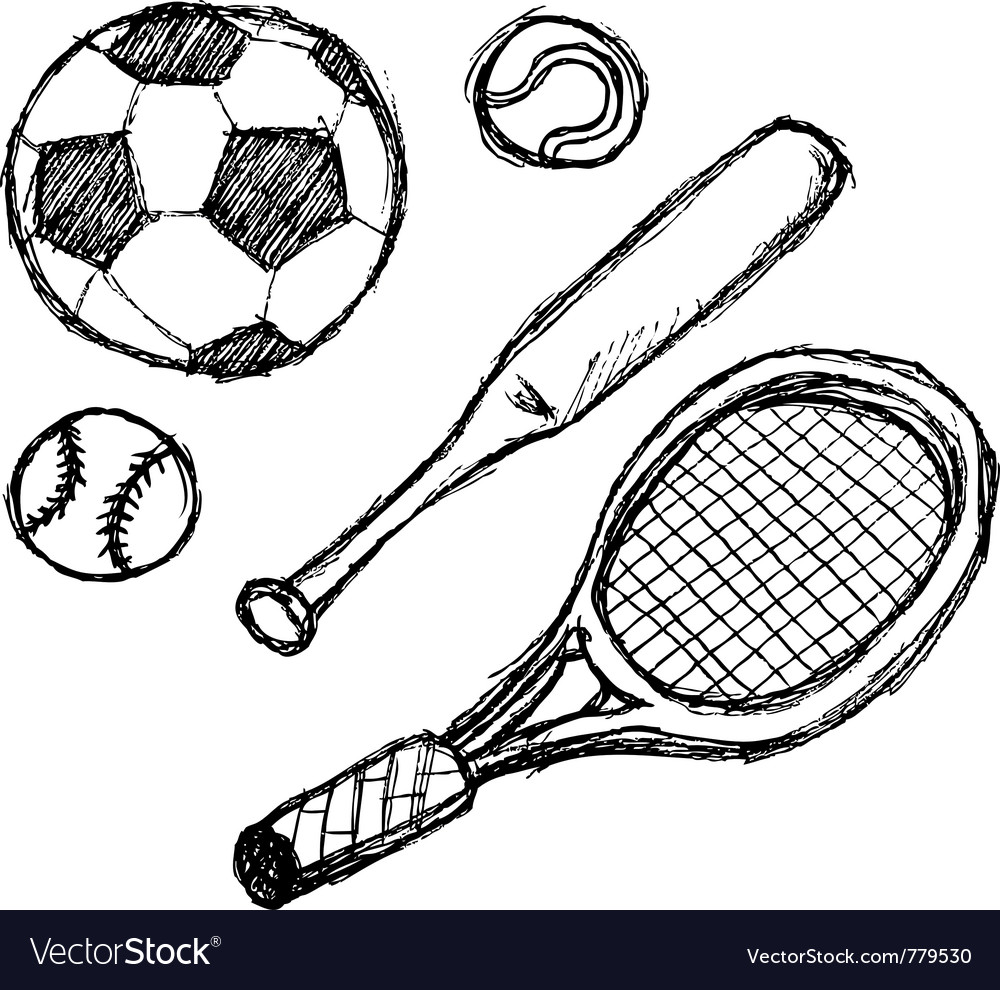 Scribble series - sports vector | Price: 1 Credit (USD $1)