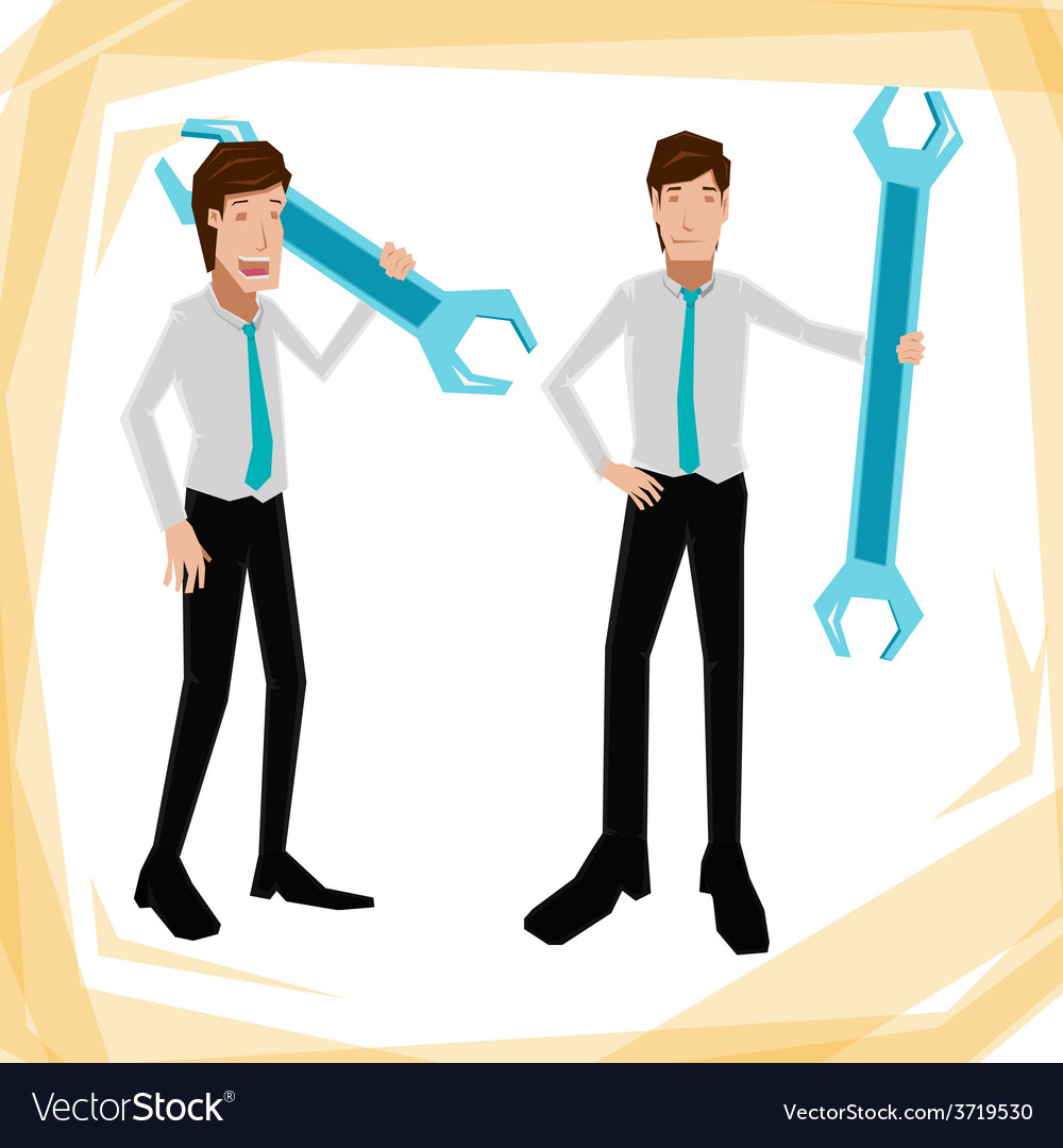 Technician business man vector | Price: 1 Credit (USD $1)