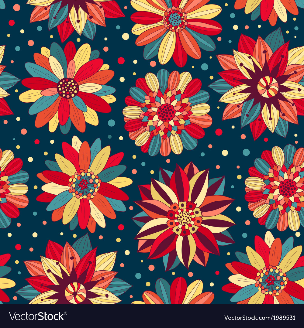 Beautiful bright flowers 2 vector | Price: 1 Credit (USD $1)