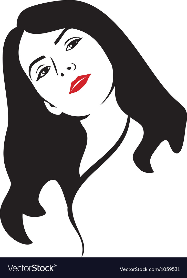 Beauty woman face vector | Price: 1 Credit (USD $1)