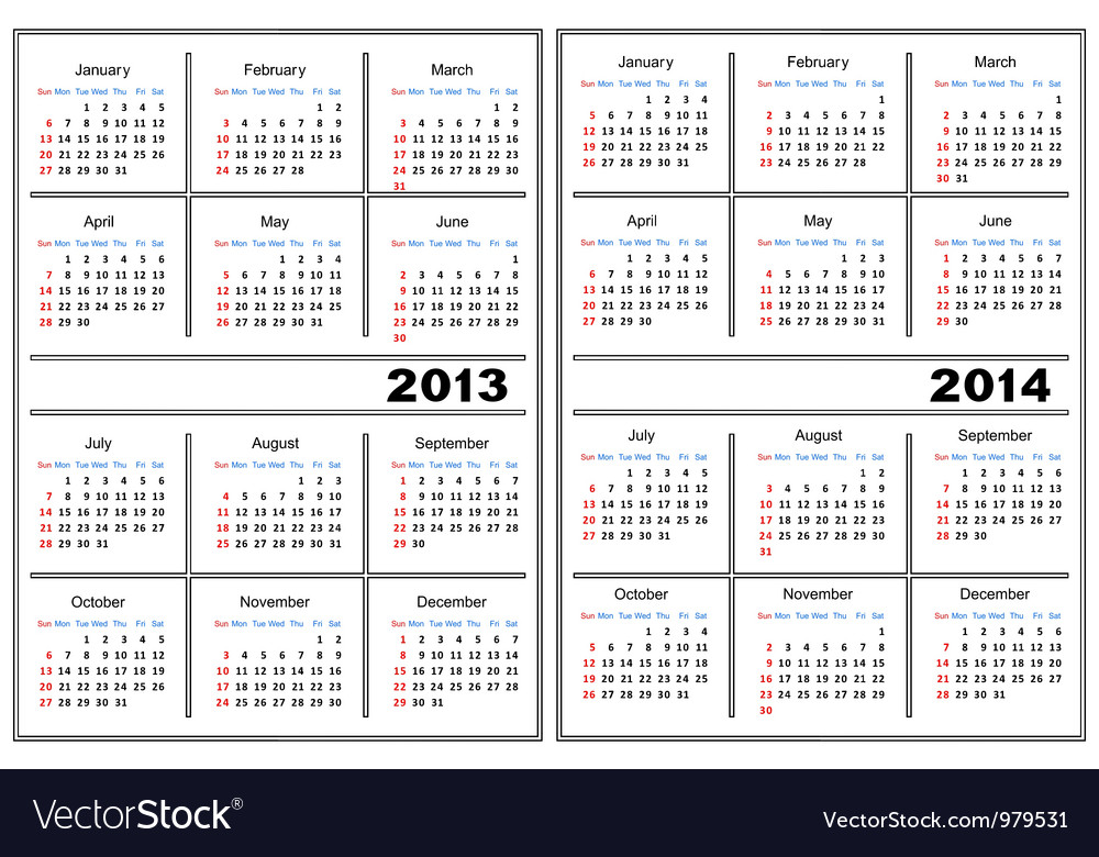 Calendar template 20132014 vector | Price: 1 Credit (USD $1)