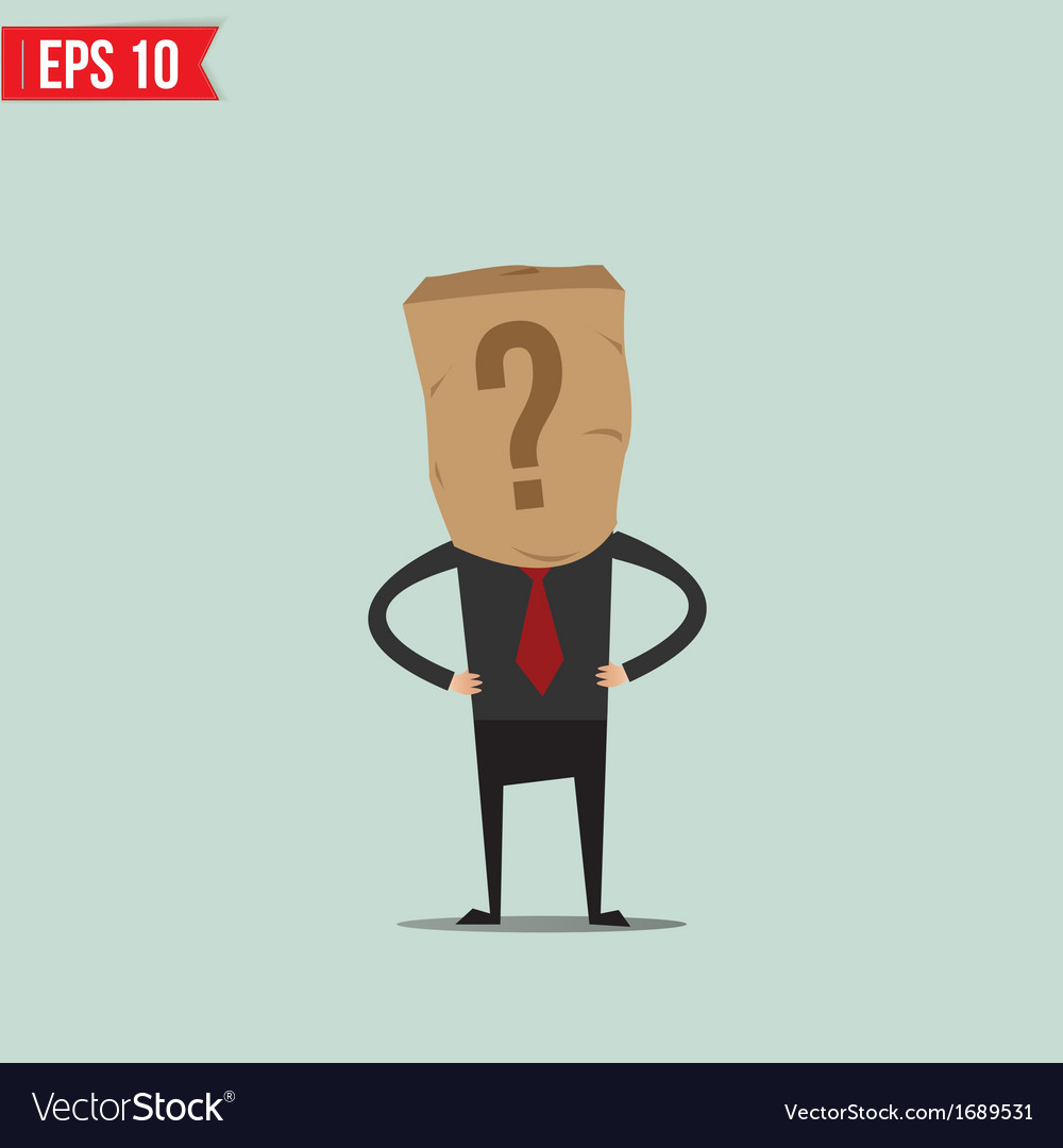Cartoon business man with paper bag - - eps1 vector | Price: 1 Credit (USD $1)