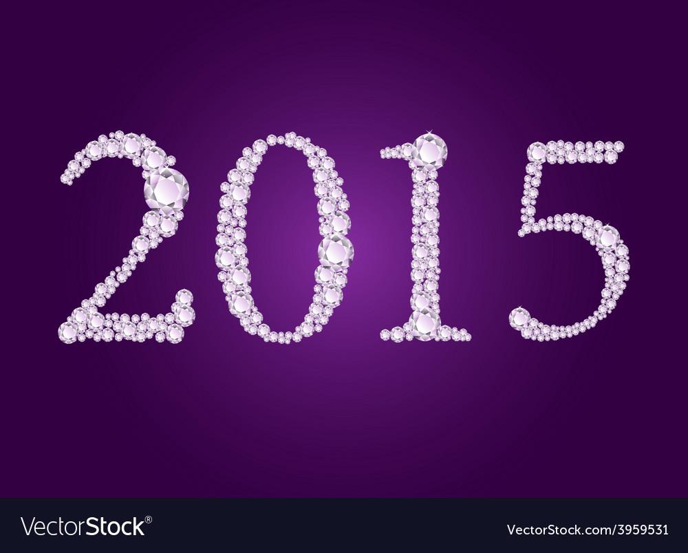 Diamond 2015 purple vector | Price: 1 Credit (USD $1)