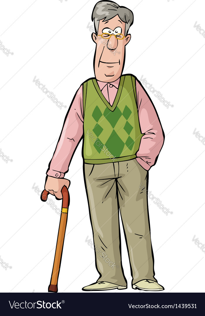 Elderly man vector | Price: 1 Credit (USD $1)