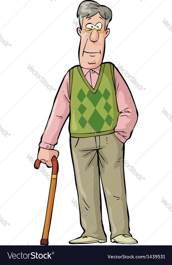 Elderly man vector   Price: 1 Credit (USD $1)