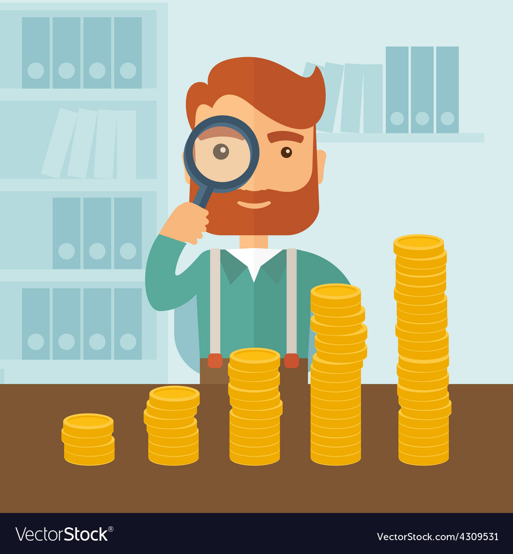 Growing business in financial aspects vector | Price: 1 Credit (USD $1)