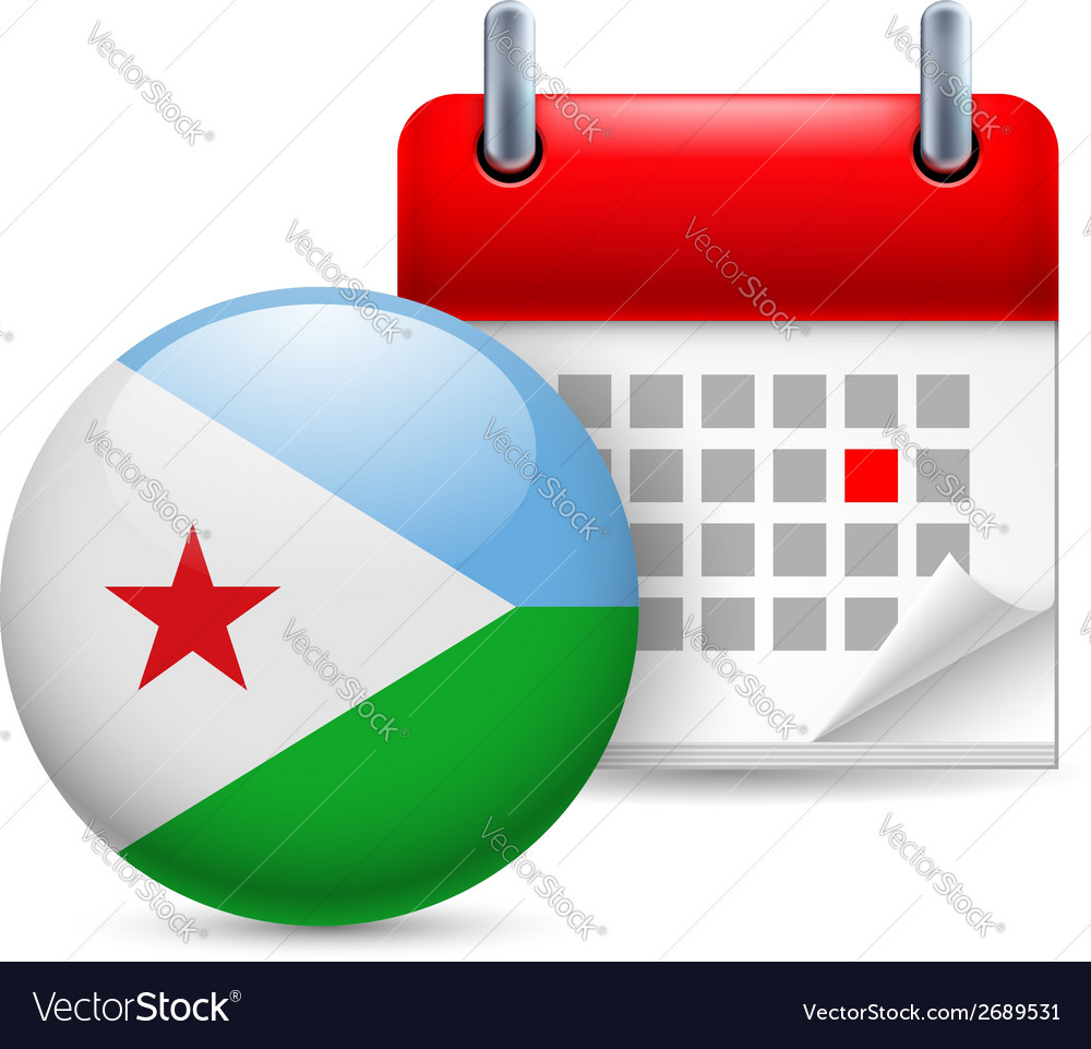 Icon of national day in djibouti vector | Price: 1 Credit (USD $1)