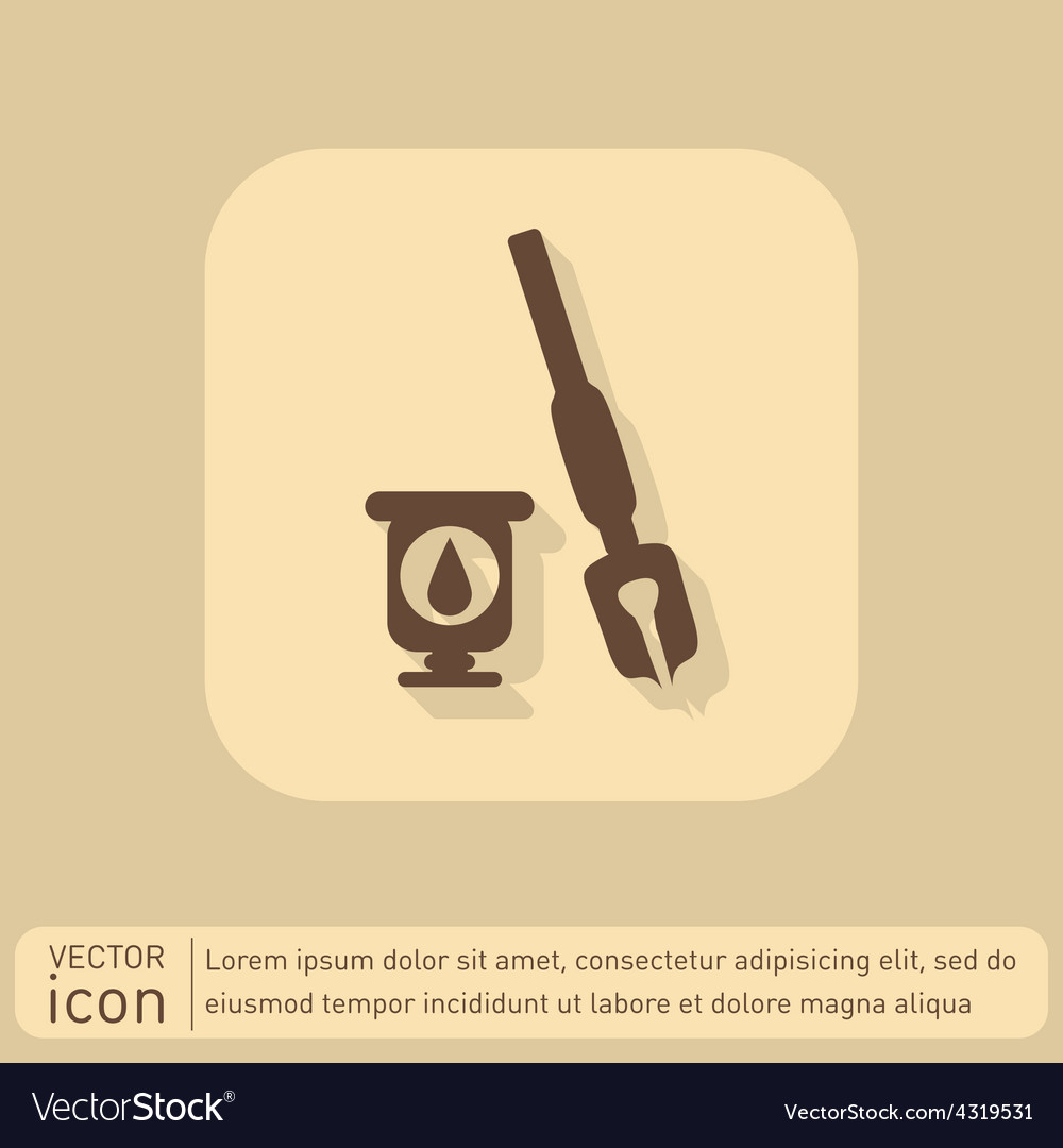 Icon pen with ink vector | Price: 1 Credit (USD $1)