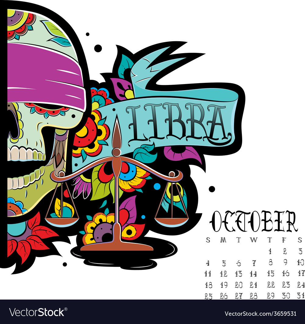 Libra color vector | Price: 1 Credit (USD $1)