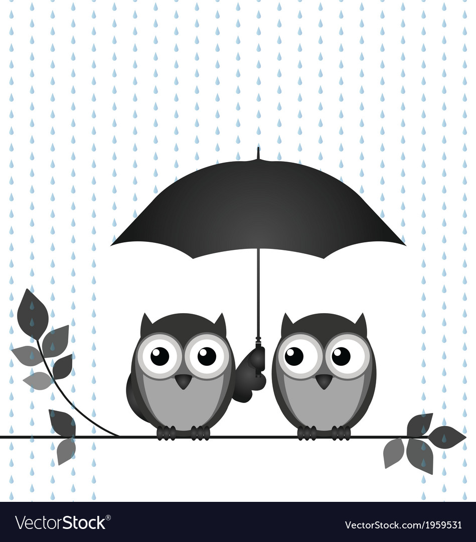 Sheltering from the rain vector | Price: 1 Credit (USD $1)