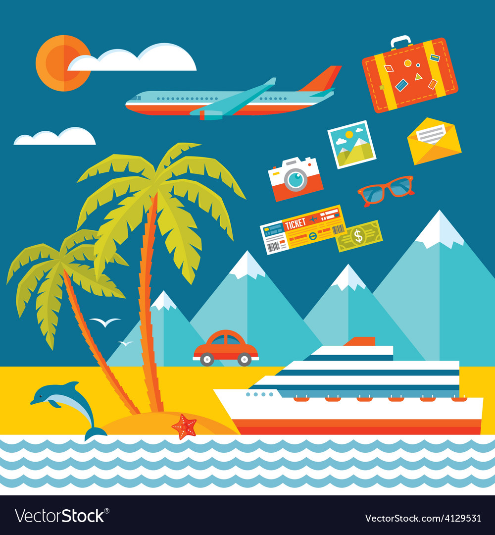 Travel - flat style vector | Price: 1 Credit (USD $1)