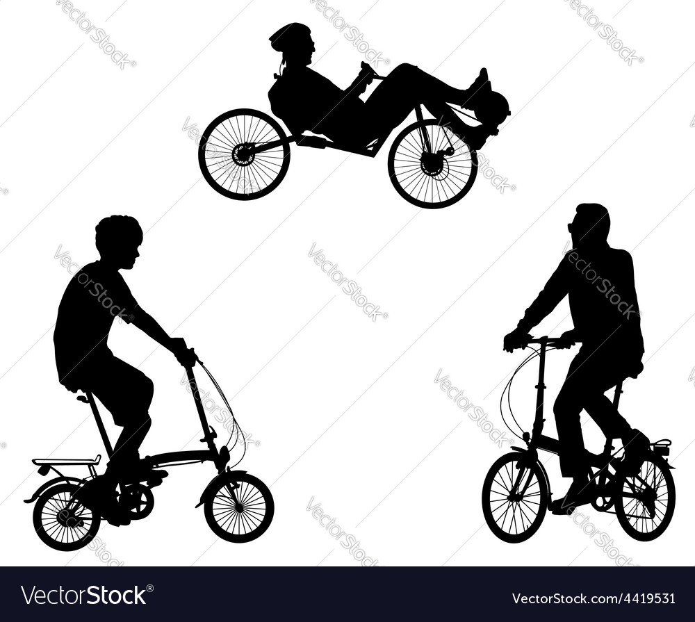 Unusual bicyclists vector | Price: 1 Credit (USD $1)