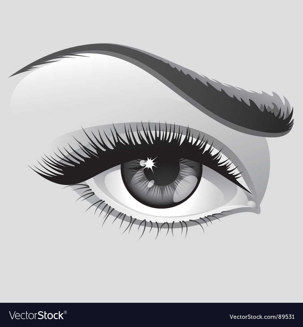 Woman eye vector | Price: 3 Credit (USD $3)