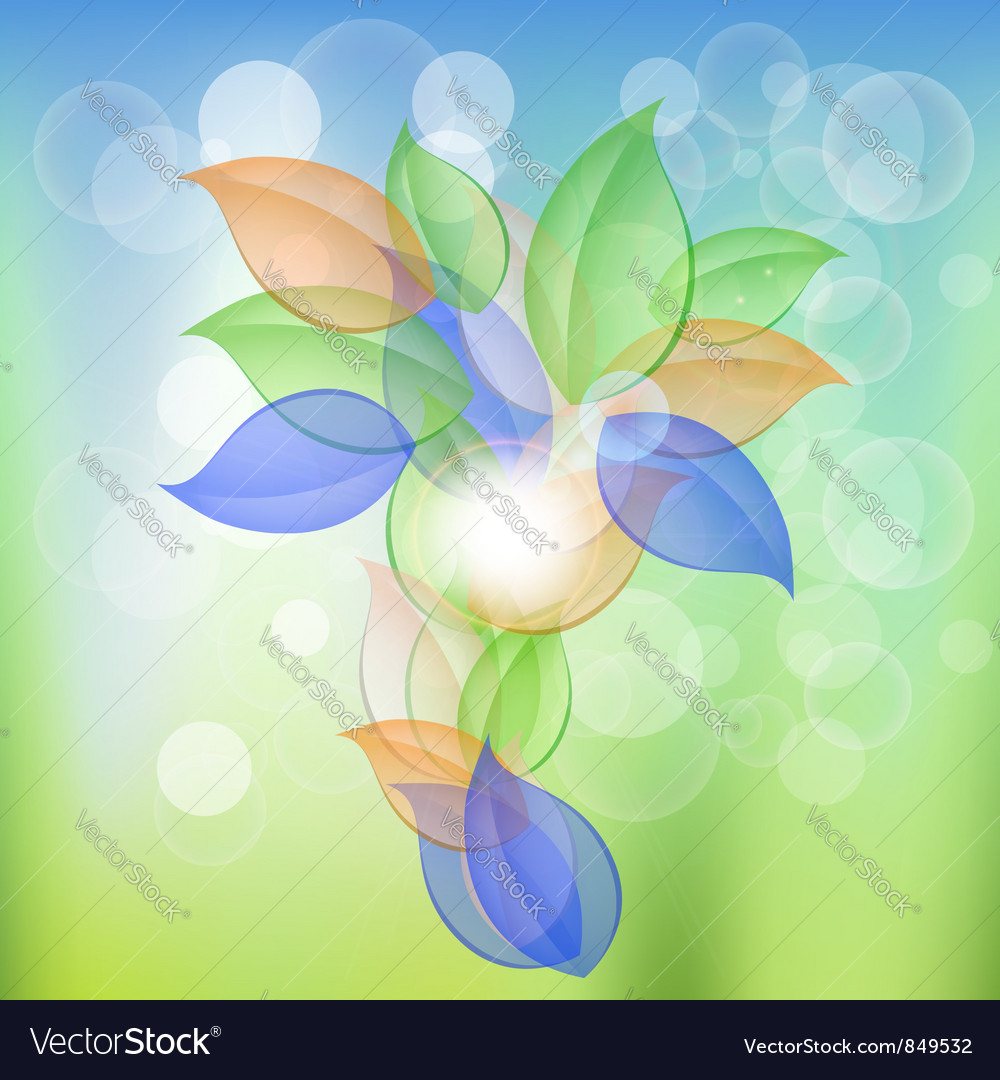 Abstract leaves concept vector | Price: 1 Credit (USD $1)