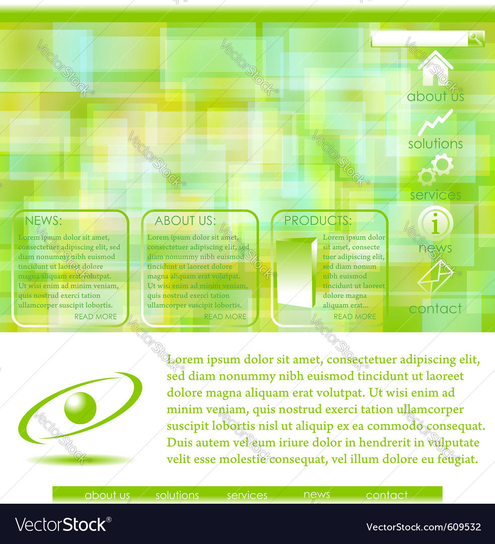 Abstract website template - green vector | Price: 1 Credit (USD $1)