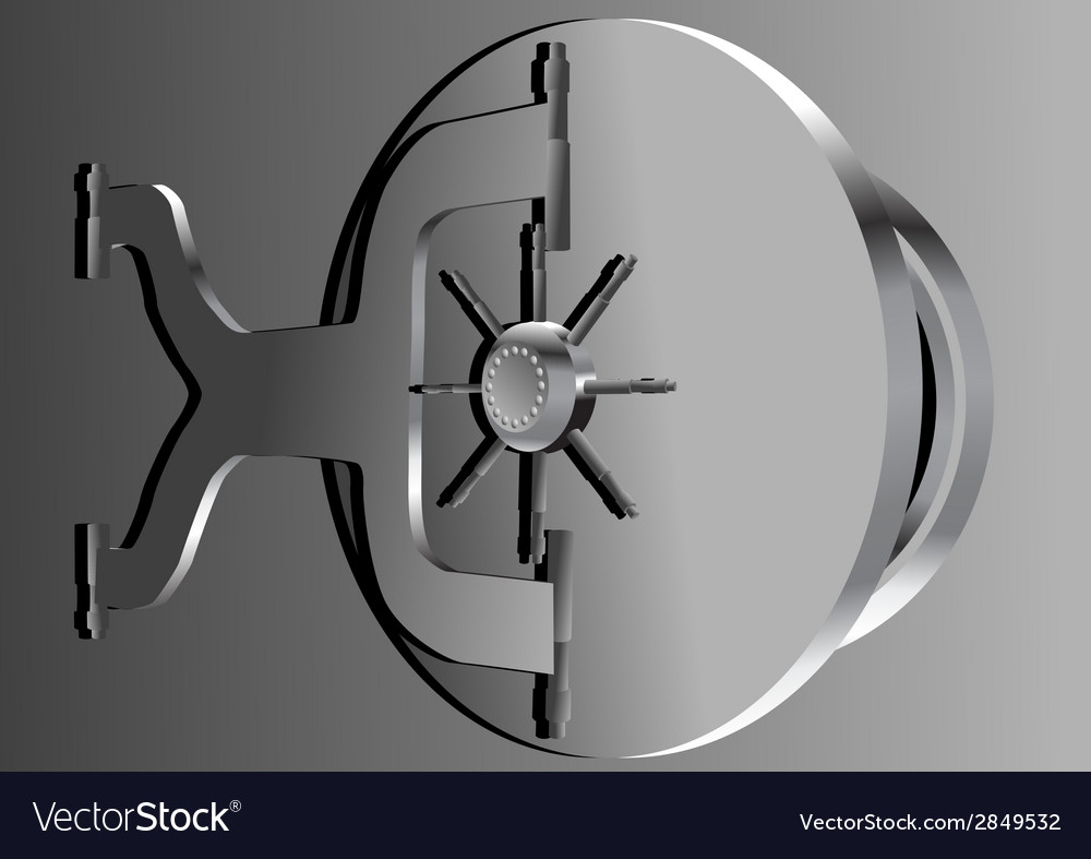 Bank vault vector | Price: 1 Credit (USD $1)