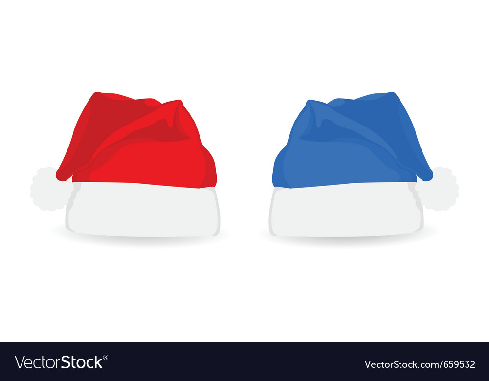 Christmas santa hats vector | Price: 1 Credit (USD $1)