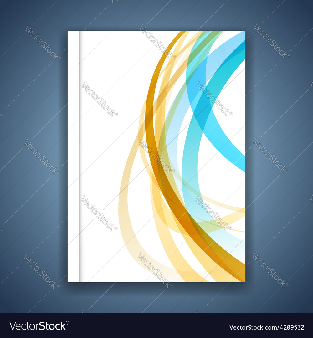 Colorful line stripe layout brochure cover modern vector | Price: 1 Credit (USD $1)