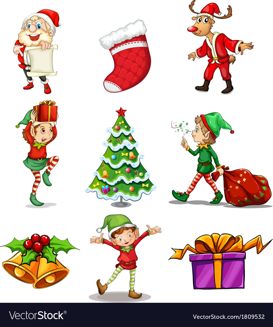 Different christmas designs vector | Price: 1 Credit (USD $1)