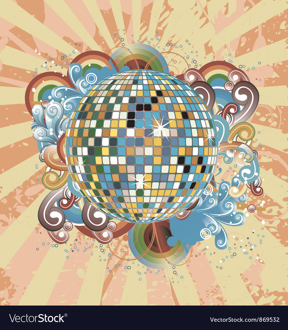 Discoball with circles vector | Price: 1 Credit (USD $1)