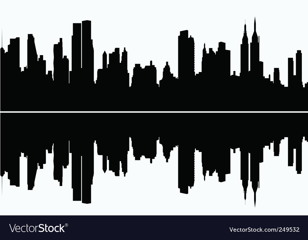 Modern cityscape vector | Price: 1 Credit (USD $1)