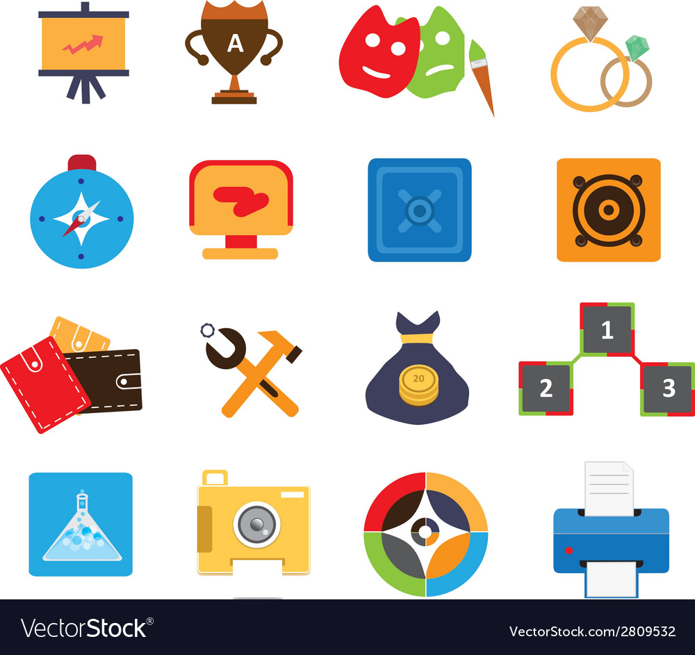 Modern web icons 4 vector | Price: 1 Credit (USD $1)