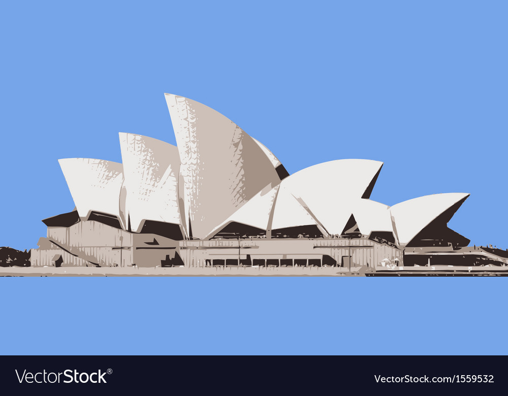 Sydney opera house vector | Price: 3 Credit (USD $3)