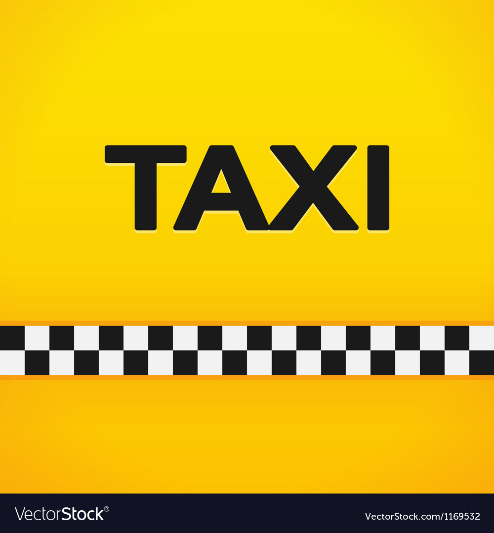 Taxi word on yellow background vector | Price: 1 Credit (USD $1)