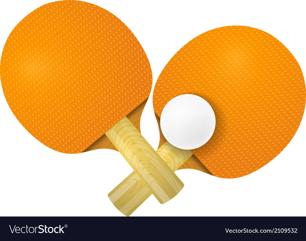 Two racket for table tennis on a white background vector | Price: 1 Credit (USD $1)