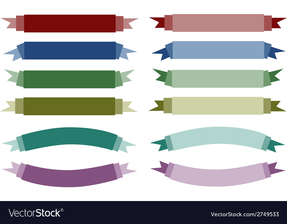 A set of beautiful colorful empty banners vector | Price: 1 Credit (USD $1)